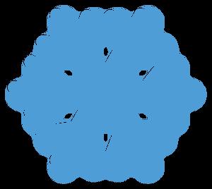 blaue Schneeflocke